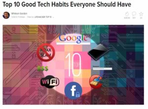 Top Ten Tech Tips